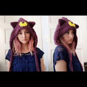Sailor Moon Oversized Luna Crochet Beanie hat